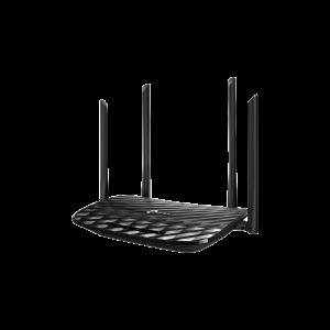 Router inalámbrico AC 1200 doble banda 1 puerto WAN 10/100/1000 Mbps Y  4 puertos LAN 10/100/1000 Mbps