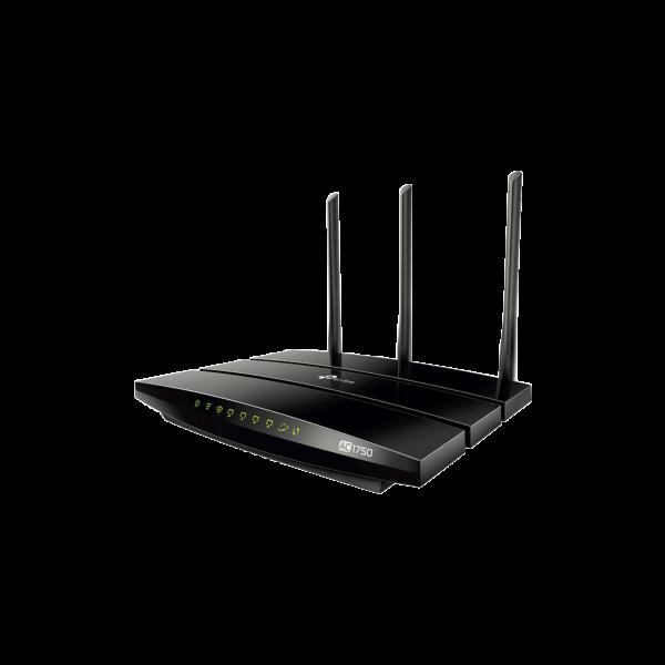 Router inalámbrico AC 1750 doble banda 1 puerto WAN 10/100/1000 Mbps Y  4 puertos LAN 10/100/1000 Mbps