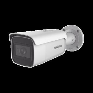 Bala IP 4 Megapixel / Serie PRO / 50 mts IR EXIR / Exterior IP67 / WDR 120 dB / PoE+ / Audio y Alarmas / Lente Mot. 2.8 a 12 mm / Videoanaliticos Integrados