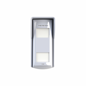 Detector de Movimiento Exterior Cableado / 12 Metros de Detección / 85° Ángulo de Detección / Dual-Tech con Doble Tecnología Microondas y PIR / Inmunidad a Mascotas de 24 Kg / Exterior