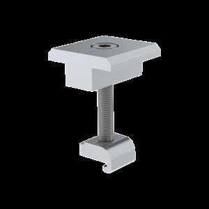 Sujetador Intermedio 30 mm para montaje de paneles solares en riel7