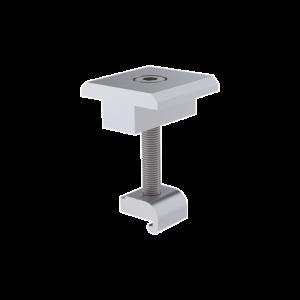 Sujetador Intermedio 35 mm para montaje de paneles solares en riel7