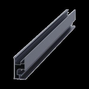 Riel 7 4200mm aluminio anodizado para montaje de módulos fotovoltaicos