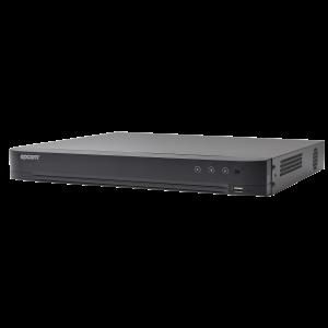 DVR 4 Megapixel / 4 Canales TURBOHD + 2 Canales IP / Detección de Rostros / 1 Bahía de Disco Duro / Audio por Coaxitron / Salida de Vídeo en Full HD