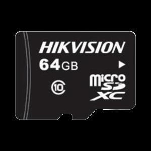 Memoria microSD / Clase 10 de 64 GB / Especializada Para Videovigilancia / Compatibles con cámaras HIKVISION