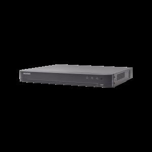 (ACUSENSE / Evita Falsas Alarmas) DVR 4 Megapixel / 8 Canales TURBOHD + 4 Canales IP / Detección de Rostros / 1 Bahía de Disco Duro / 1 Canal de Audio