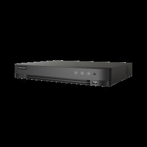 (ACUSENSE / Evita Falsas Alarmas) DVR 8 Megapixel / 8 Canales TURBOHD + 8 Canales IP / 1 Bahía de Disco Duro / Audio por Coaxitron / Detección de Rostros