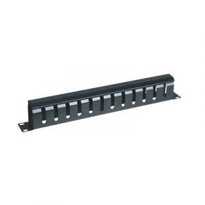 Organizador de cables horizontal 19 con cubierta metálica