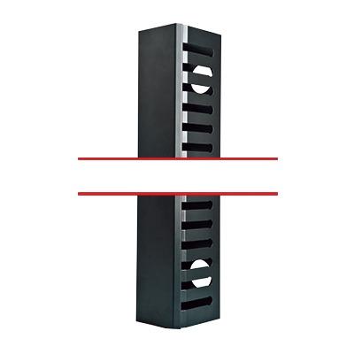 Kit Organizador Vertical de Cable Sencillo para Rack Abierto de 48 Unidades.
