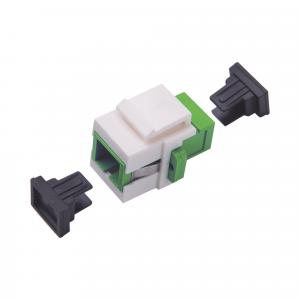 Acoplador Keystone de fibra óptica Monomodo SC/APC Simplex a SC/APC
