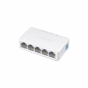 Switch no administrable para escritorio de 5 puertos 10/100 Mbps