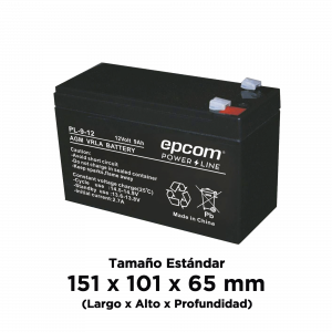Batería AGM/VRLA de 12 Vcd @ 9 Ah ; UL