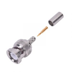 Conector BNC Macho de Anillo Plegable para Cable LMR-195