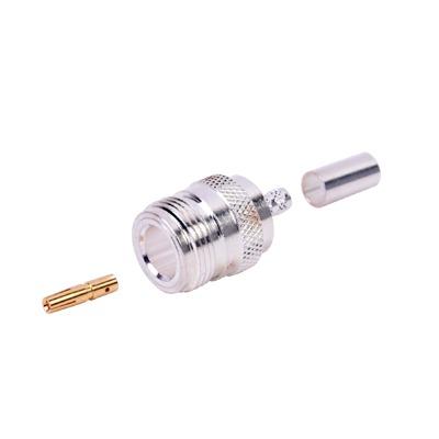 Conector N Hembra de Anillo Plegable para Cables RG-58/U