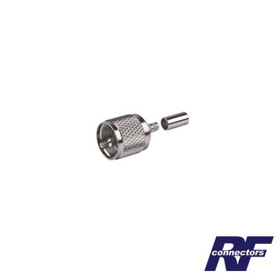 Conector UHF Macho (PL-259) de Anillo Plegable para Ensamblar en Cables RG-58/U
