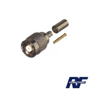 Conector TNC Macho Inverso de Anillo Plegable para Cable RG-142/U.