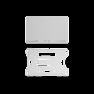 Kit de  Tag UHF tipo Tarjeta para lectoras de largo alcance 900 MHZ / EPC GEN 2 / ISO 18000 6C / No imprimible / Incluye porta tarjeta