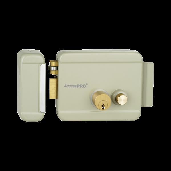Cerradura Eléctrica con botón de salida/ Incluye Llave  / Exterior / Izquierda