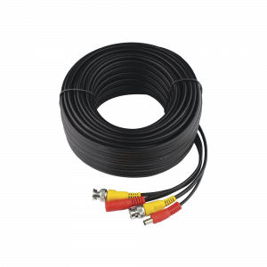 Cable Coaxial armado con conector BNC y Alimentación