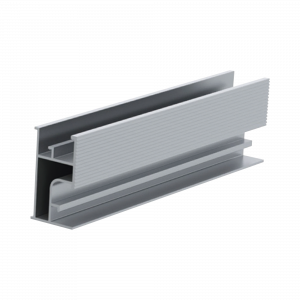 Riel 3 para montaje de módulos fotovoltaicos de aluminio anodizado de 4400mm.