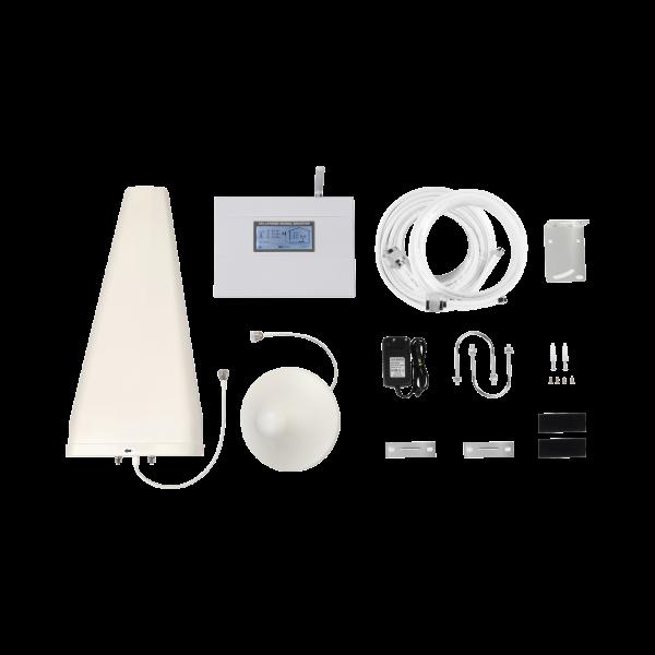 Kit Amplificador de Señal Celular 4G LTE   Funciona con Todos los Operadores   Soporta Múltiples Dispositivos y Tecnologías   Hasta 500 metros cuadrados de Cobertura