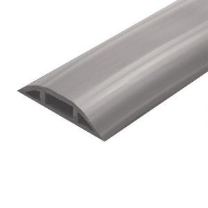 Canaleta flexible color gris de PVC auto extinguible tramo de 2.5m (9300-01253)