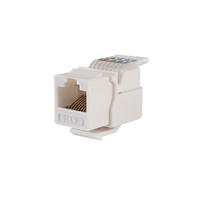 Módulo Jack Cat6 sin herramienta (toolless) para faceplate keystone - Color Blanco