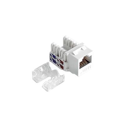 Módulo Jack Keystone Cat6 con terminación 110 (Punchdown) para faceplate - Color Blanco