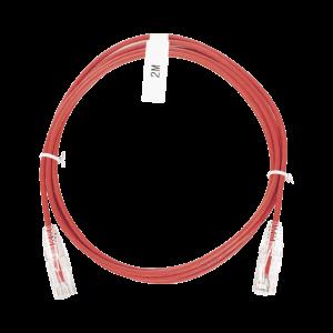 Cable de Parcheo Slim UTP Cat6 - 2 m Rojo Diámetro Reducido (28 AWG)