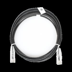 Cable de Parcheo Slim UTP Cat6 - 3 m Negro Diámetro Reducido (28 AWG)