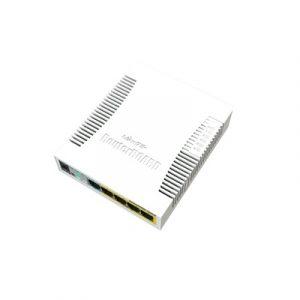 (RB260GSP) Switch Mikrotik 5 puertos PoE (Pasivo) Gigabit Ethernet y 1 SFP
