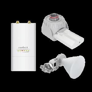 Kit RF Elements incluye ROCKETM5 + Twisport + Antena Sectorial Simétrica de 30 grados para enlace PtMP