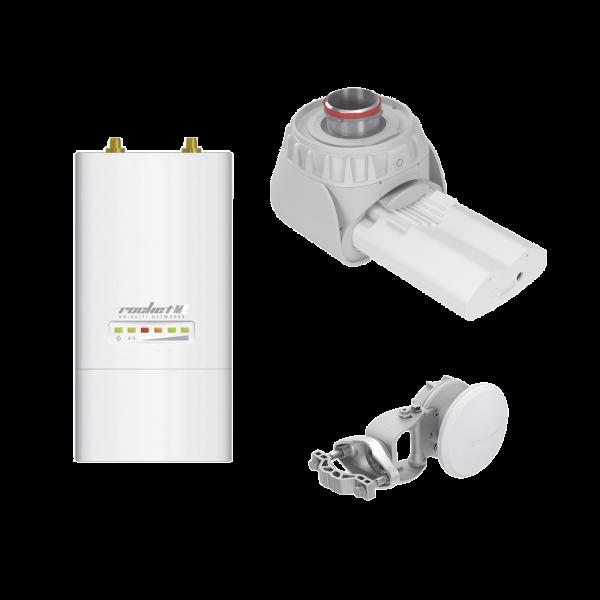 Kit RF Elements incluye ROCKETM5 + TwisPort + Antena Sectorial Simetrica de 90° para enlace PtMP